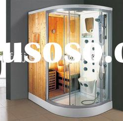 combination dry steam sauna room with steam shower room
