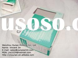 custom design paper packaging box with cut window