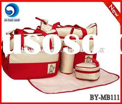 fashion new microfiber mother bag set/baby bag set