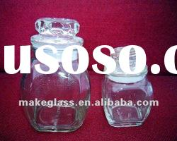 glass storage jar with lid