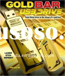 gold bar usb flash disk memory disk pen drive Quality guaranteed gold usb disk
