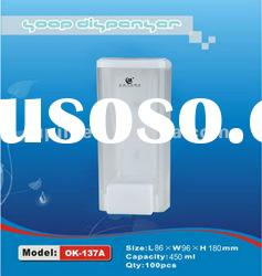 hang on wall manual plastic liquid soap dispenser abs