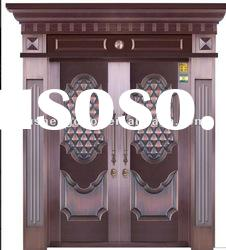 high-technology door ,villa door ,double door design,quasi copper door
