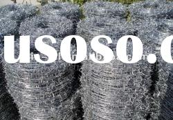 hot dipped galvanized barbed wire,14#*14#