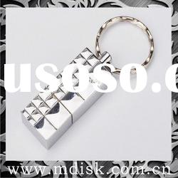 metal USB flash drive with key chain decoration
