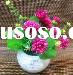 mini artificial daisy flowers bonsai for home decoration