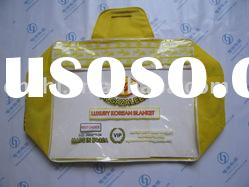 nonwoven and pvc quilt bag with zipper