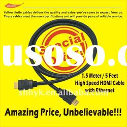 on promotion 1.4 High Speed HDMI Cable with Ethernet, 3D support