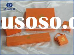 orange gloss paper box for jewelry and gift