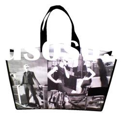 pp non woven shopping mall packing bag for women's clothes