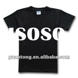 promotional black t-shirts men's blank T-shirt