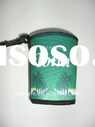promotional neoprene can cooler with clip