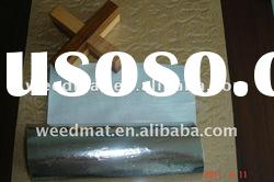 roll aluminum film laminated single/two side pp/pe white woven cloth/manufactory