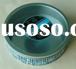 round packaging tin box with transparent lid