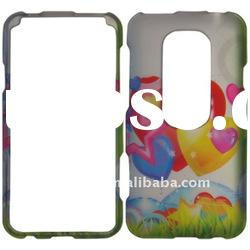 rubber coating snap-on cell phone case for HTC EVO 3D/ design case/ 2D design case