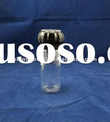 salt and pepper glass bottle with grinder, salt and pepper mill