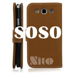 twill pattern mobile case for samsung galaxy s3 i9300 leather case