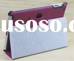 two foldable pu leather case cover for apple ipad2/new ipad 3 stand front back cover