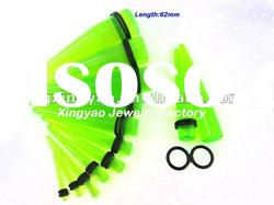 uv acrylic with double O-rings ear fake taper plug tunnel