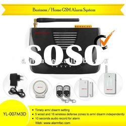 wireless gsm safe home alarm /wireless gsm alarm manual/gsm home intruder alarm