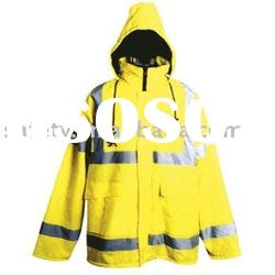 100% anti-water keep warm winter high visibility reflective warning jacket