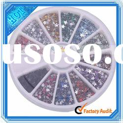 12 colors 3000 Pcs Glitter Nail Art Stickers Rhinestone Wheel