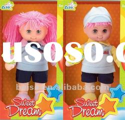 14 inch fashion real boy and girl doll soft body with plastic head baby dolls toy