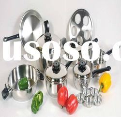 17Pcs stainless steel wide rolled edge casserole set SC727