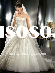 2011 New Arrival Strapless Bridal Ball Gown Wedding Dress