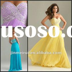 2012 Affordable Sweetheart Beaded Designer Evening Dress Gowns
