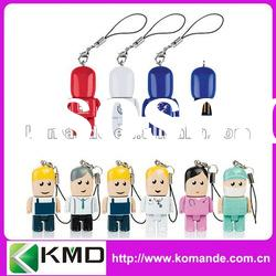 2012 Doctor and Nurse Plastic USB flash drive with bulk capacity