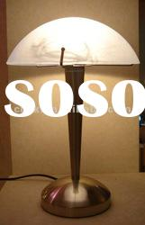 2012 Glass Table Light Lamps for Home& Hotel with Shaped Shade and Metal Base