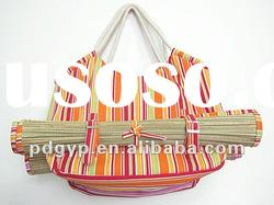 2012 New Style With Mat of Beach Bag canvas bag