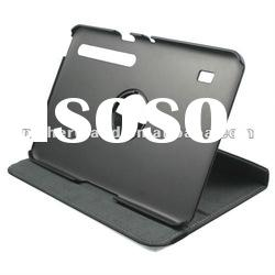 2012 Newest For Motorola XOOM Tab 10.1 Rotary Stand Leather Case with High Quality