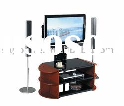 2012 Veneer Finish Wooden Lcd Tv Stand (LB-TV-024AV)