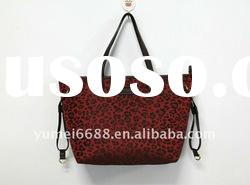 2012 fashion design high quality dark red fashion handbag