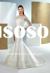 2012 long sleeve wedding dresses with lace