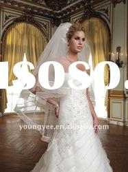 2012 new style hot sales white simple wedding veils ,wedding dress accessories(VL051)