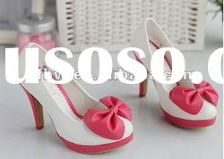 2012 newest style high heel lady shoes with bow