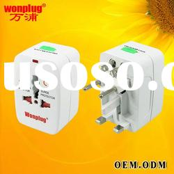2012 promotional universal travel adapter with surge protector/extension socket