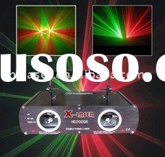 210mw double head red+green laser light