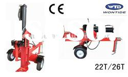 22Ton hydraulic horizontal &vertical petrol log splitter with CE
