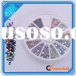 3000 Pcs 12 colors Glitter Nail Art Rhinestone Wheel