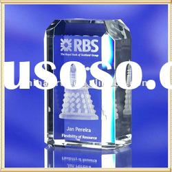 3D Laser Engraving Crystal Award for Souvenir