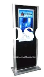 42 inch supermarket/mall floor standing dual screen lcd advertising monitor
