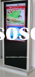 65 inch floor standing totem touch screen lcd advertising player