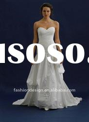 ALW-32 2012 white strapless sweetheart neckline satin sheath wedding dresses