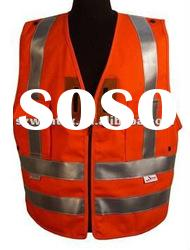 ANSI Style 2 orange flame resistant cotton reflective Safety Vest