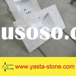 Artificial White Marble Bathroom Vanity Tops