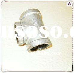 Banded Hot dipped Malleable iron pipe fitting equal Tee